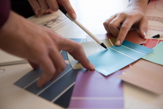 塗装の色の打ち合わせ