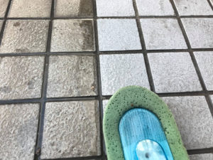 綺麗になった床のタイル