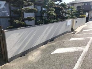 完成した壁